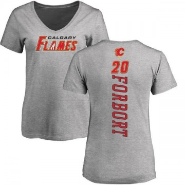 Women's Derek Forbort Calgary Flames Backer T-Shirt - Ash